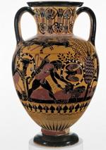 Ânfora grega com pintura (504 a.C.)
