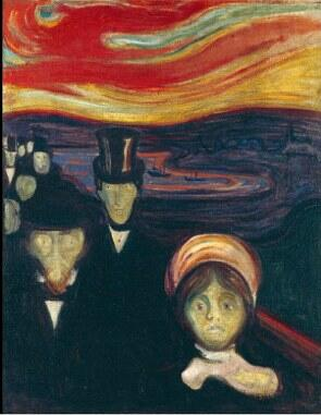 Pintura Ansiedade de Edvard Munch