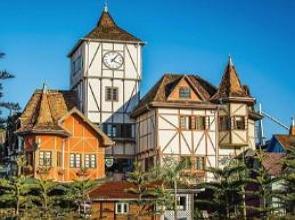 Arquitetura alemã da cidade de Blumenau em Santa Catarina