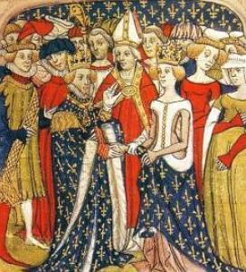 Imagem de um casamento na Idade Média