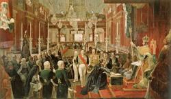 Coroação do imperador Pedro I em 1 de dezembro de 1822.