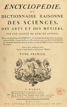 Capa da Enciclopédia de Diderot e D'Alembert
