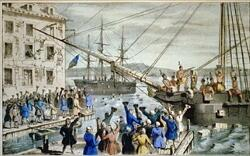Boston Tea Party (Festa do Chá de Boston): protesto dos colonos americanos contra o governo britânico