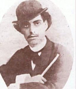 Foto de Castro Alves de chapéu com 20 anos