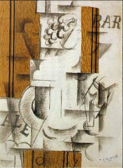 Fruteira e Copo, obra de Georges Braque
