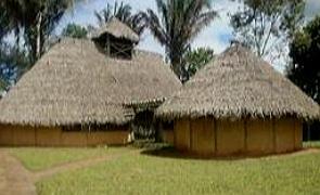 Típicas habitações do Quilombo dos Palmares