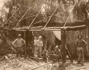 Foto de imigrantes alemães no Rio Grande do Sul