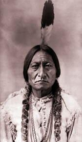 Foto do índio Touro Sentado, líder dos sioux