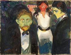 Inveja, pintura de Edvard Munch