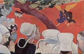 Pintura A Luta de Jacó com o Anjo