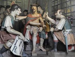 Jesus escarnecido pelos soldados romanos, obra de Aleijadinho