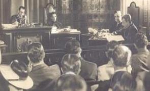 Foto do julgamento dos líderes da Intentona Comunista