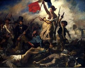 A Liberdade Guiando o Povo, obra de Delacroix