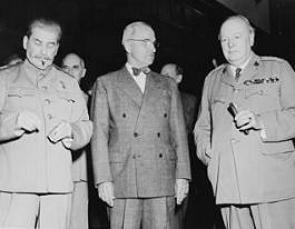 Stalin, Harry Truman e Winston Churchill