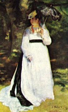 Lise com sombrinha, obra de Auguste Renoir