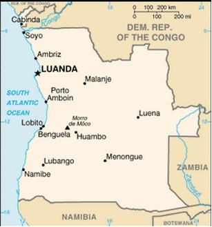 mapa de angola Mapa de Angola mapa de angola