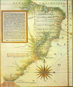 Mapa Antigo das Capitanias Hereditárias