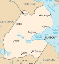 Mapa do Djibouti