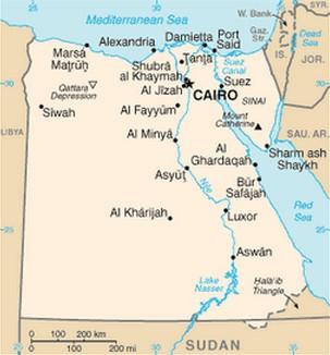 Mapa do Egito  caractersticas e limites geogrficos