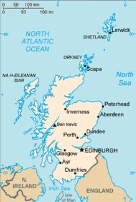 mapa da escocia Mapa da Escócia   características e limites geográficos mapa da escocia
