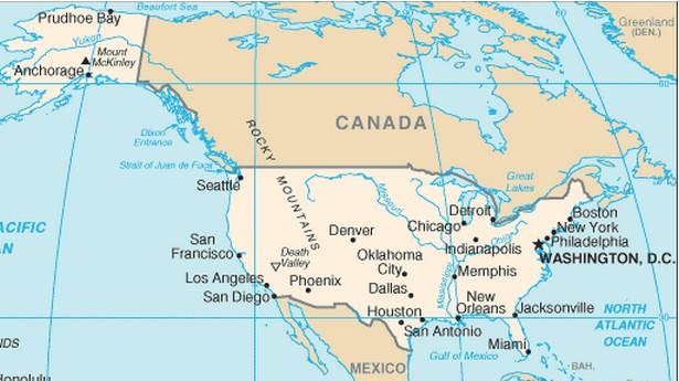 mapa dos estados unidos - características e limites