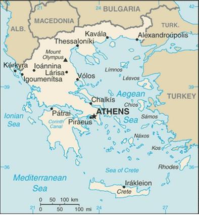 mapa da grecia Mapa da Grécia Atual   características e limites geográficos mapa da grecia
