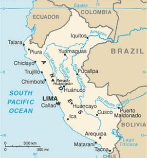 mapa do peru com cidades Mapa do Peru   características e limites geográficos mapa do peru com cidades