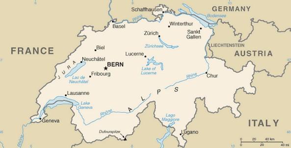 mapa suica Mapa da Suíça   características e limites geográficos mapa suica
