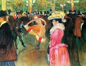 Baile no Moulin Rouge, obra de Toulouse-Lautrec