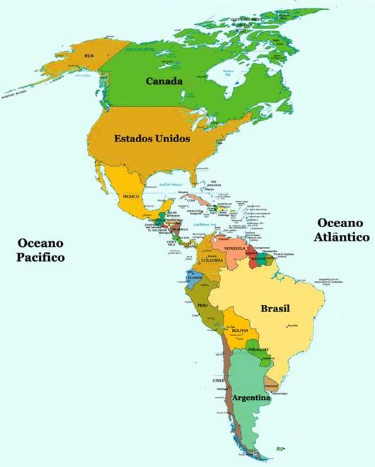 mapa da america Mapa da América mapa da america