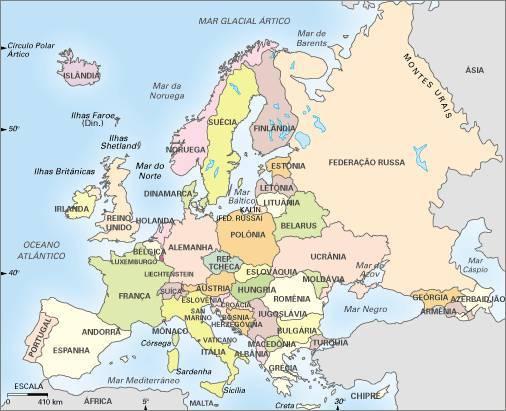 mapa da europa completo em portugues Mapa da Europa mapa da europa completo em portugues