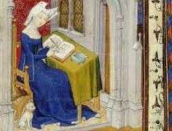 Mulher da Nobreza da Idade Média escrevendo