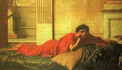 Os Remorsos de Nero após matar sua mãe, pintura de John William Waterhouse, 1878.