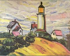O farol (1915), obra do período expressionista de Anita Malfatti