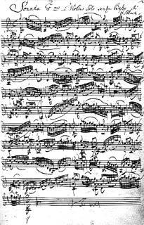 Partidura de Bach