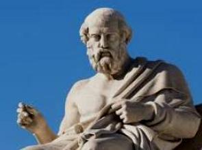 Escultura do filósofo grego Platão