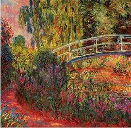 Pintura Ponte Japonesa de Monet