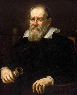 Retrato pintado de Galileu Galilei
