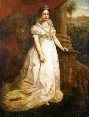 Retrato pintado de Maria Leopoldina