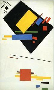 Suprematismo, pintura de Kazimir Malevich