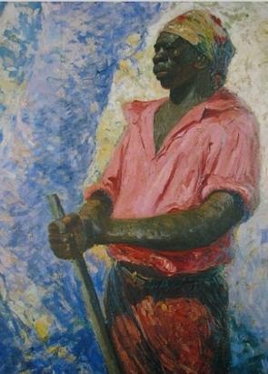 Pintura representando Zumbi dos Palmares