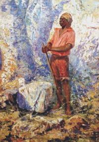 Pintura mostrando Zumbi dos Palmares, líder quilombola